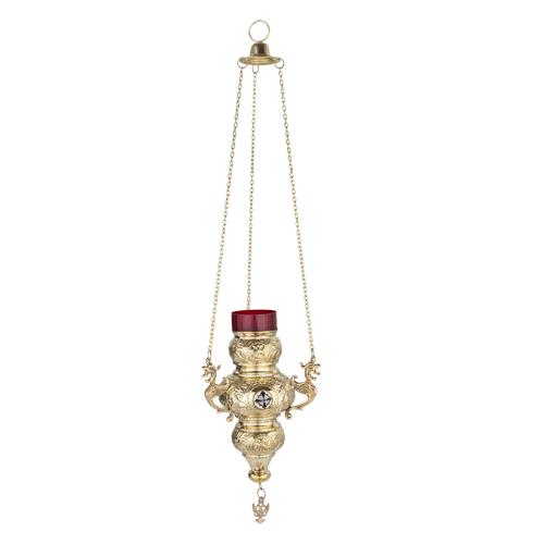 Large Hanging Brass Vigil Lamp