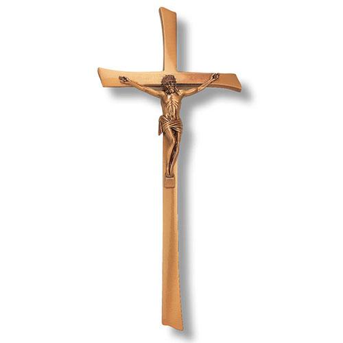 Brass Memorial Crucifix