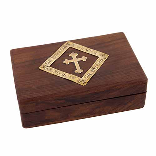 Wooden Rosary Box