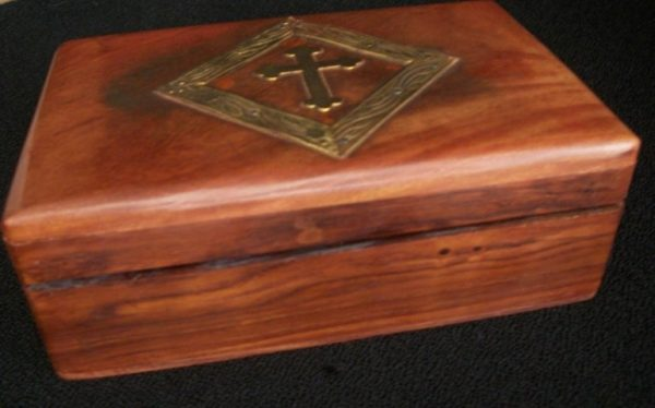 Wooden Rosary Box