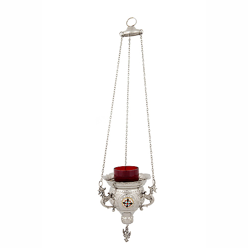 Nickel Plated Hanging Vigil Lamp