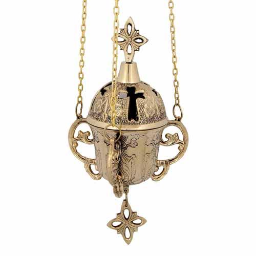 Brass Hanging Vigil Lamp