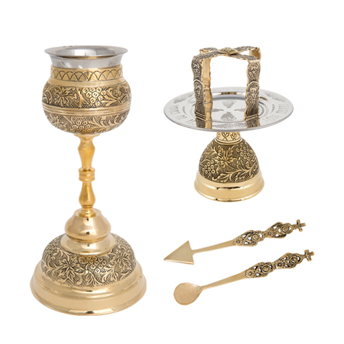 Brass Chalice Set