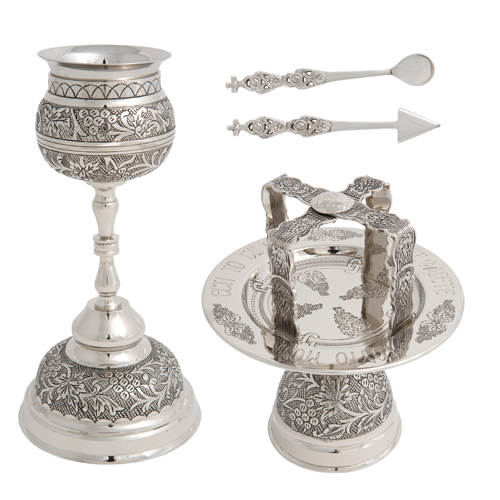Nickel Plated Chalice Set