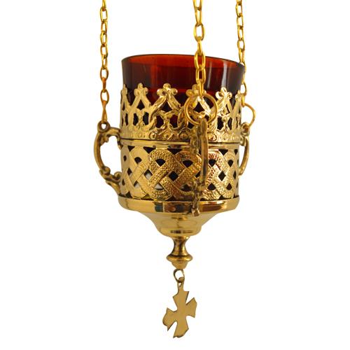 Gold Plated Hanging Vigil Lamp