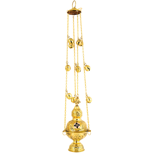 Gold Plated Church Thurible