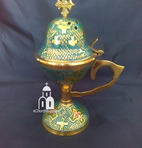 Blue Enamel Coated Censer