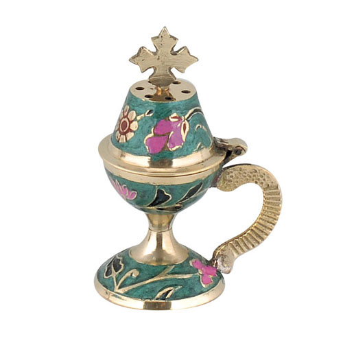 Green Enamel Coated Censer