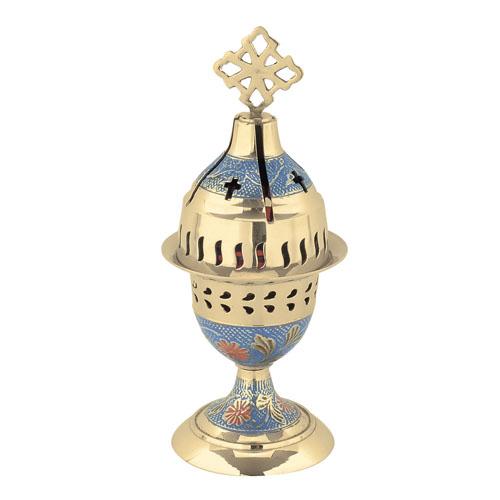 Blue Enamel Coated Vigil Lamp