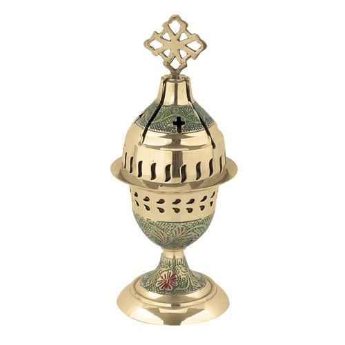 Green Enamel Coated Vigil Lamp