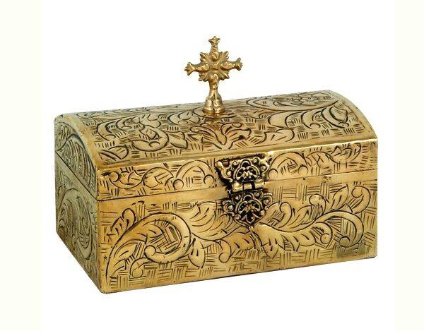 Brass Reliquary Box