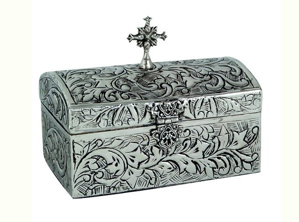 Nickel Plated Reliquary Box