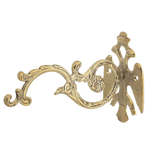 Wall Mounted Brass Bracket