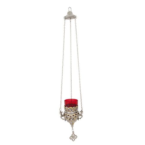 Two Colored Hanging Vigil Lamp