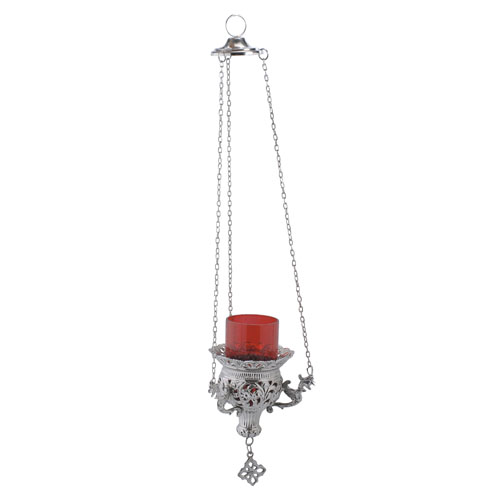 Nickel Plated Hanging Oil Lamp