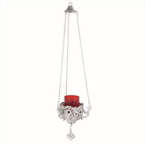 Nickel Plated Hanging Vigil Lamp