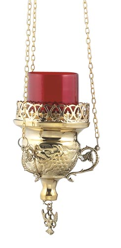 Brass Hanging Vigil Lamp