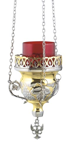 Two Colored Hanging Vigil Lamp