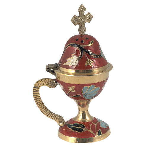 Red Enamel Coated Censer