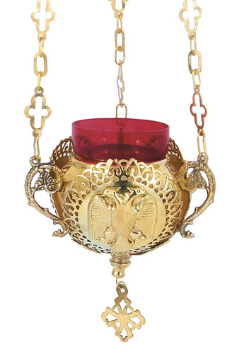 Gold Plated Haniging Vigil Lamp