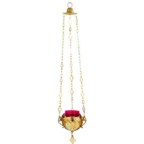 Gold Plated Haniging Vigil Lamp