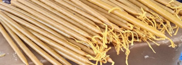 Beeswax Church Candles