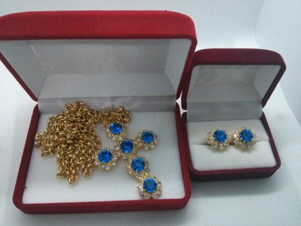 Cross & Cufflinks (Blue)