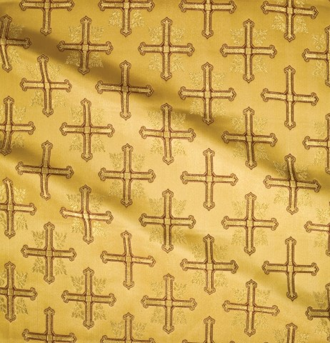 Cross Pattern Brocade Gold 2