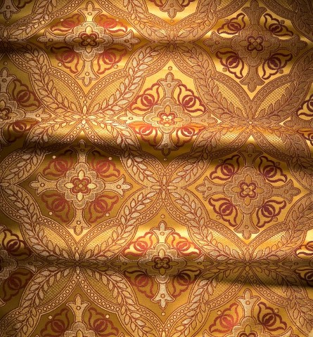 Cross Pattern Brocade Gold