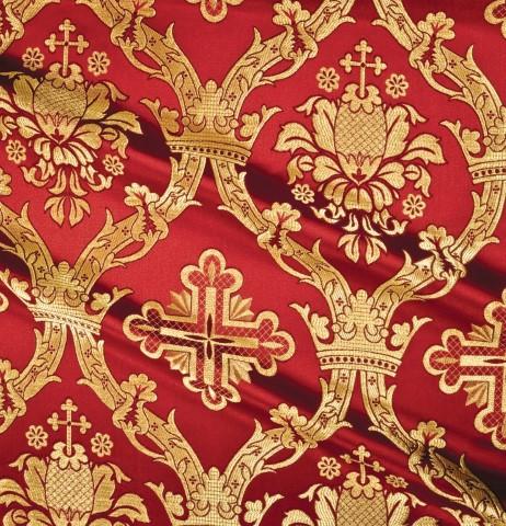 Cross Pattern Brocade Red