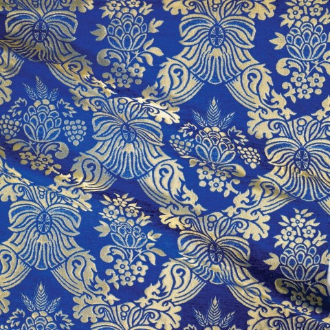 Floral Pattern Brocade Blue