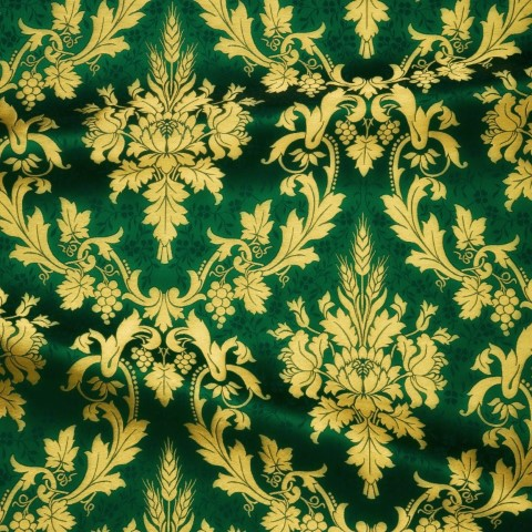 Floral Pattern Brocade Green