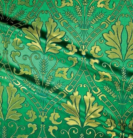 Floral Pattern Brocade Green