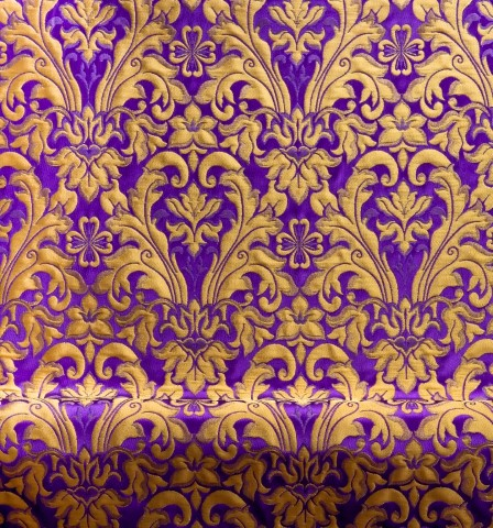 Floral Pattern Brocade Purple