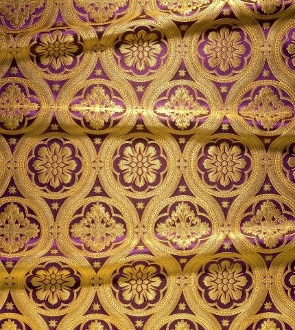 Floral Pattern Brocade Purple