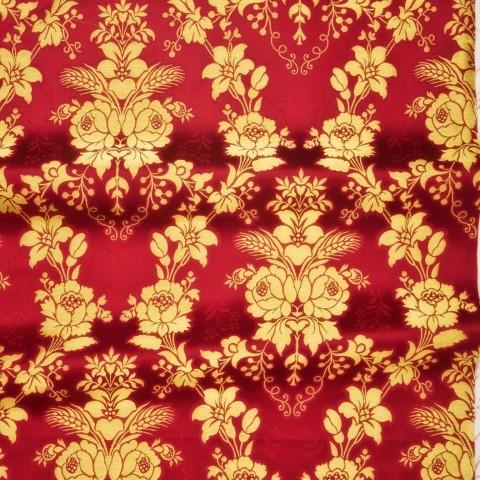 Floral Pattern Brocade Red
