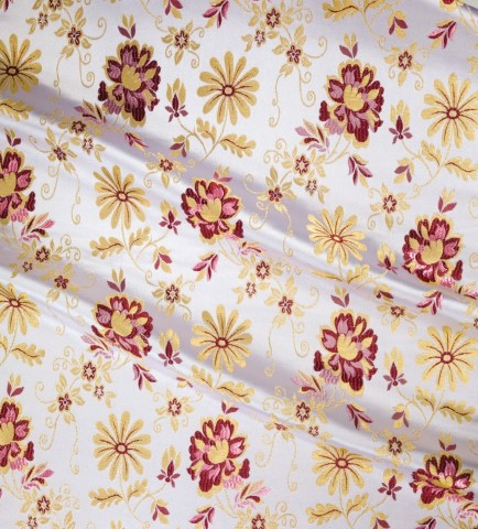 Floral Pattern Brocade White