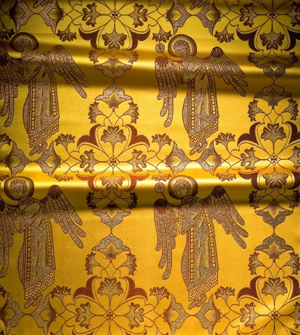 Holy Angel Pattern Brocade Gold