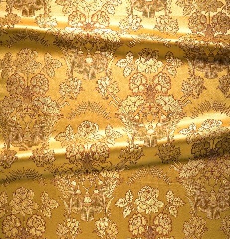 Rose Pattern Brocade Gold