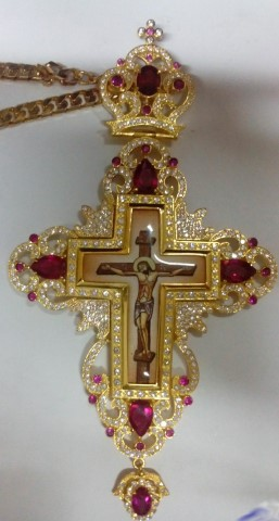 Gold Plated Pectoral Cross
