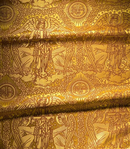 Saints Faith Hope and Love Pattern Gold