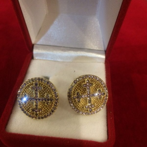 Silver Cufflinks with Granada Stones